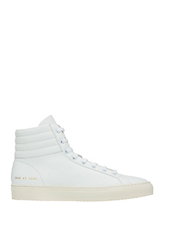 Common Projects-Premium high  white leather sneakers
