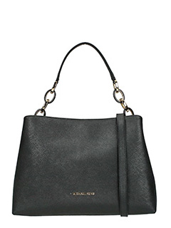Michael Kors-black leather bag
