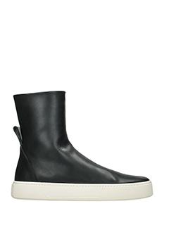 Balenciaga-Sneakers Scuba Boots in pelle nera