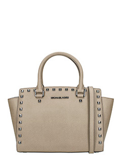 Michael Kors-Borsa Md Tz Satchel in saffiano taupe