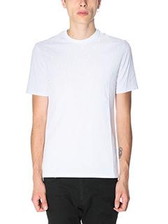 Neil Barrett-T-Shirt Thunder in cotone bianco