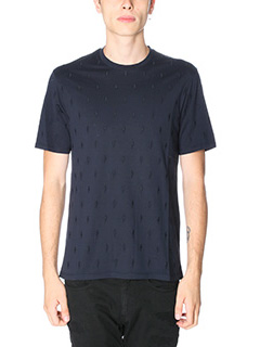 Neil Barrett-T-Shirt Thunder in cotone blue