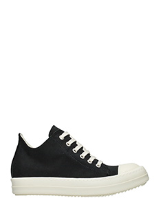 Rick Owens DRKSHDW-Low sneaker black fabric sneakers