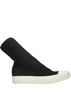 Rick Owens DRKSHDW-Scuba sock black fabric sneakers