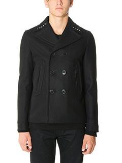Valentino-black wool outerwear