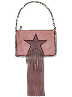 Stella McCartney-Pochette Falabella Purse Star in shaggy deer rosa