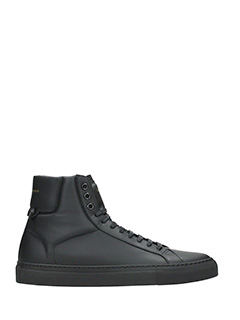 Givenchy-Sneakers Urban St Hi Snkll  in pelle nera
