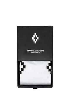 Marcelo Burlon-Calzini Cruz in cotone bianco nero