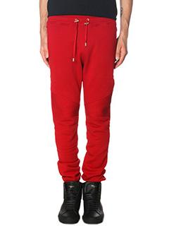 Balmain-red cotton pants