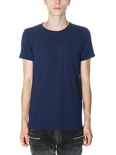 Balmain-T-Shirt in cotone blue