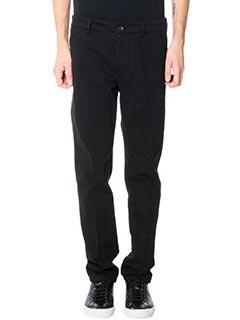 Low Brand-Pantaloni T 1 0 Armas in cotone nero
