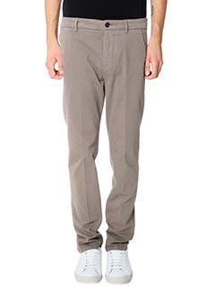 Low Brand-Pantaloni T 1 0 Armas in cotone grigio