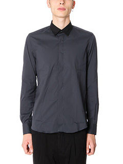 Low Brand-Camicia Shirt S17 Pop in cotone grigio