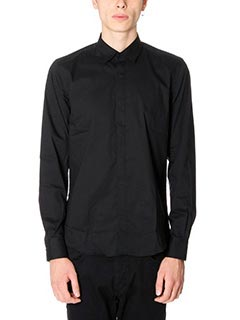 Low Brand-Camicia Shirt S17 Pop in cotone nero