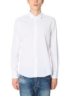 Low Brand-Camicia Shirt S17 Pop in cotone bianco