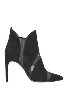 Gianni Marra-black suede ankle boots