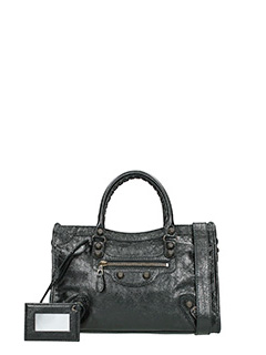 Balenciaga-Giant 12city black leather bag