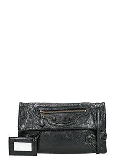 Balenciaga-Pochette Giant  Envelope in pelle nera