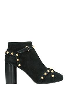 Balenciaga-black suede ankle boots