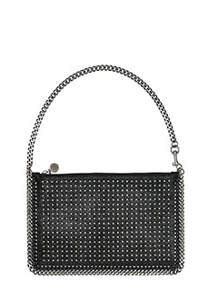 Stella McCartney-black polyester clutch