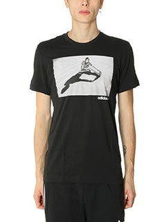 Adidas-T-Shirt Girl Tee in cotone nero