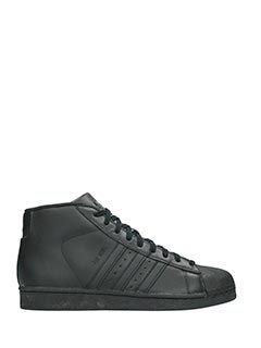Adidas-Pro model black leather sneakers