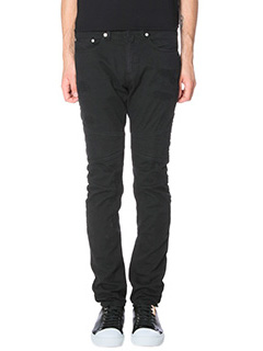Neil Barrett-Jeans Skinny Biker in cotone nero