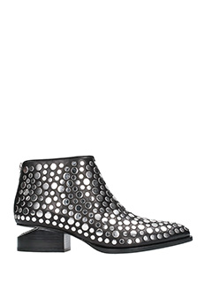 Alexander Wang-Studded Kori black leather ankle boots