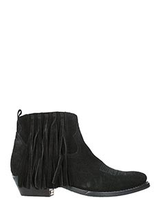 Golden Goose Deluxe Brand-black suede ankle boots