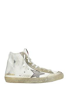 Golden Goose Deluxe Brand-Sneakers Francy Penstal in pelle bianca