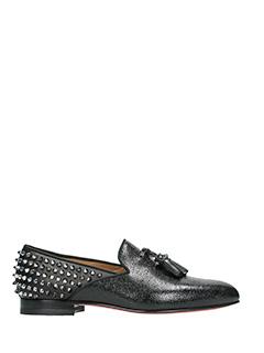 Christian Louboutin-Tassilo flat  black leather loafers