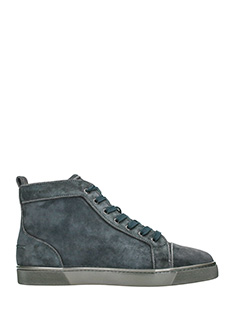 Christian Louboutin-Sneakers Louis Orlato in suede grigio