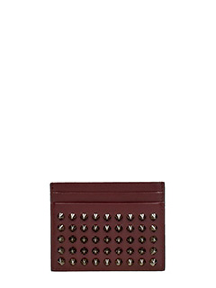 Christian Louboutin-Kios  bordeaux leather wallet