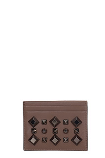 Christian Louboutin-Kios paris brown leather wallet