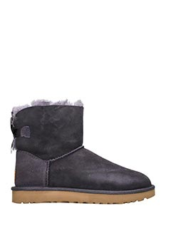 Ugg-Stivali Bailey Mini Bow in shearling viola