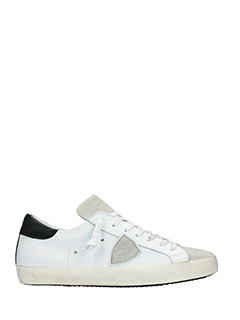 Philippe Model-Sneakers Classic in pelle bianca nera