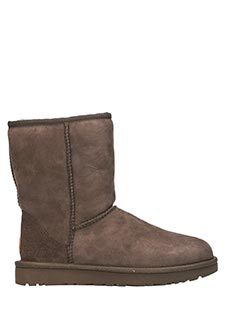 Ugg-Stivali Classic Short in shearling choccolate