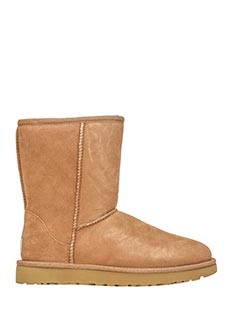 Ugg-Stivali Classic Short in shearling chestnut
