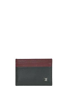 Valentino-black leather wallet