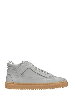 Etq .-Sneakers Mid 2  in pelle grigia
