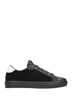 Thoms Nicoll-black suede and leather sneakers