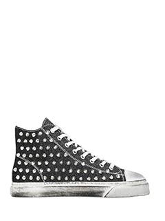 Gienchi-Sneakers alte Jean Michel in tessuto glitter nero