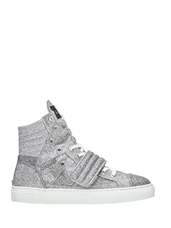 Gienchi-Sneakers Hypnos in tessuto glitter argento