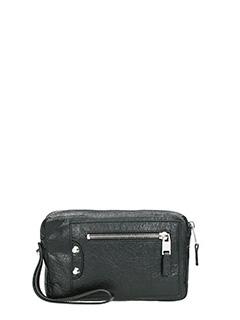 Balenciaga-black leather bag