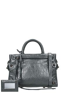 Balenciaga-Muse city s aj grey leather bag
