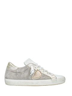 Philippe Model-Sneakers Classic in pelle grigia bianca