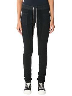 Rick Owens DRKSHDW-Jeans Combo Leggings in denim nero