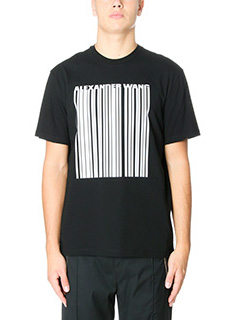 Alexander Wang-T-Shirt Embroidered  Barcode in cotone nero  bianco