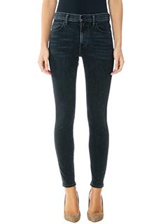 Helmut Lang-Jeans Ankle Skinny in denim nero