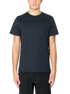 Jil Sander-T-Shirt Jesey Double in cotone blue